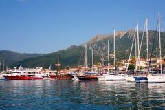 Boats in Nidri harbour, Lefkada, Greece Royalty Free Stock Photos