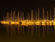 Boats in the night Stock Photography