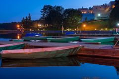 Boats at the night Stock Photos