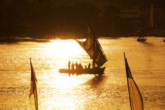 Boats on Nile Royalty Free Stock Photography