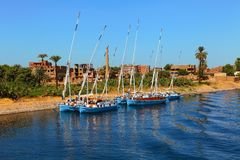 Boats of the Nile Royalty Free Stock Images