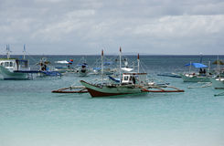 Boats in ocean Royalty Free Stock Photography