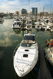 Boats in Ocean Village marina Stock Photos
