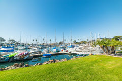 Boats in Oceanside harbor Royalty Free Stock Photos