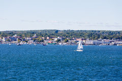 Boats off Coast of Rockland Maine Royalty Free Stock Photography