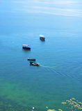 Boats on Ohrid Lake Stock Images