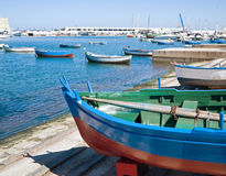 Boats at the old port of Bari. Apulia. Stock Image