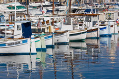Boats in the Old Port, Marseille Stock Images