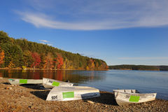 Boats On A Lake Royalty Free Stock Images