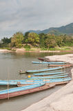 Boats On The Mekong River Stock Photos