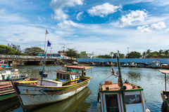 Free Boats On The Water From An Old Fishing Village In Espirito Santo, Brazil Stock Photos - 62893443