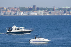 Boats in the Oresund Stock Photography