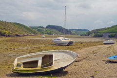 Boats out of water. Royalty Free Stock Image