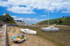 Boats out of water. Royalty Free Stock Images