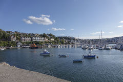 Boats in Outer Harbor Harbour Brixham Devon England UK Stock Photos