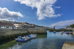 Boats in Padstow traditional fishing harbour Royalty Free Stock Image