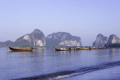 Boats at Pak Meng beach Stock Photo