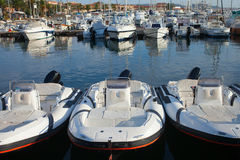 Boats in Palau port in Sardinia. Royalty Free Stock Photos