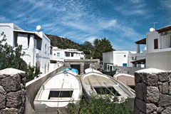 Boats in Panarea Stock Photography