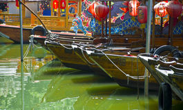 Boats in the park of guangzhou. Stock Image