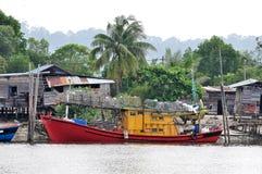 Boats park at jetty Royalty Free Stock Photo