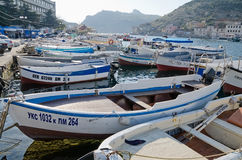 Boats parked in Balaclava Royalty Free Stock Images