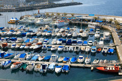 Boats parking in jetty Stock Image