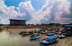 Boats parking port klang Royalty Free Stock Image