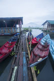 Boats parking at Rawa Pening Lake, Indonesia. Rawa Pening is located at Salatiga, Indonesia Royalty Free Stock Photo
