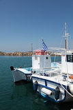 Boats on Paros island Royalty Free Stock Images