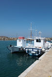 Boats on Paros island Royalty Free Stock Photos