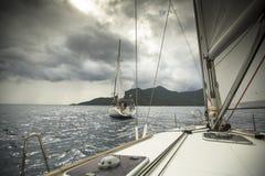 Boats participate in sailing regatta 11th Ellada Stock Photos