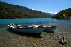 Boats In Patagonia royalty free stock images