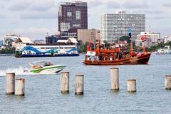 Boats in pattaya sea Royalty Free Stock Photo