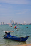 Boats in Pattaya sea Royalty Free Stock Photography