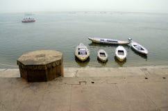 Boats pattern at munshi ghat varanasi