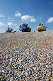 Boats on pebble beach, Hastings Stock Photography