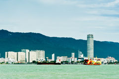 Boats on Penang Straits Royalty Free Stock Images