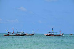 Boats on Phangan Island, Thailand stock photography