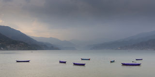 Phewa lake, Pokhara, Nepal Royalty Free Stock Image