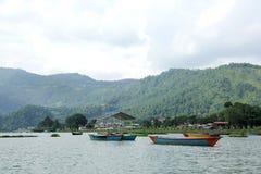 Boats in Phewa Lake Royalty Free Stock Photography