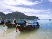 Boats of Phi Phi Don Island Royalty Free Stock Images