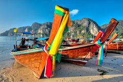 Boats at Phi phi island Stock Photo