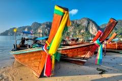 Boats at Phi phi island Stock Photo