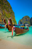 Boats of Phi-Phi Island Stock Photos