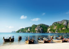 Boats on Phi Phi island Stock Images