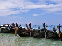 Boats from Phi phi island Royalty Free Stock Images