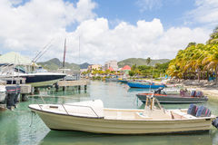 Boats in Philipsburg Harbor Royalty Free Stock Photography