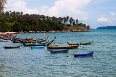 Boats in Phuket island, Thailand Royalty Free Stock Images