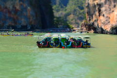 Boats in Phuket, Thailand. Boats nesting in Phuket, Thailand Royalty Free Stock Image